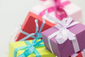 Pile of presents, gift vouchers from Serene Beaute